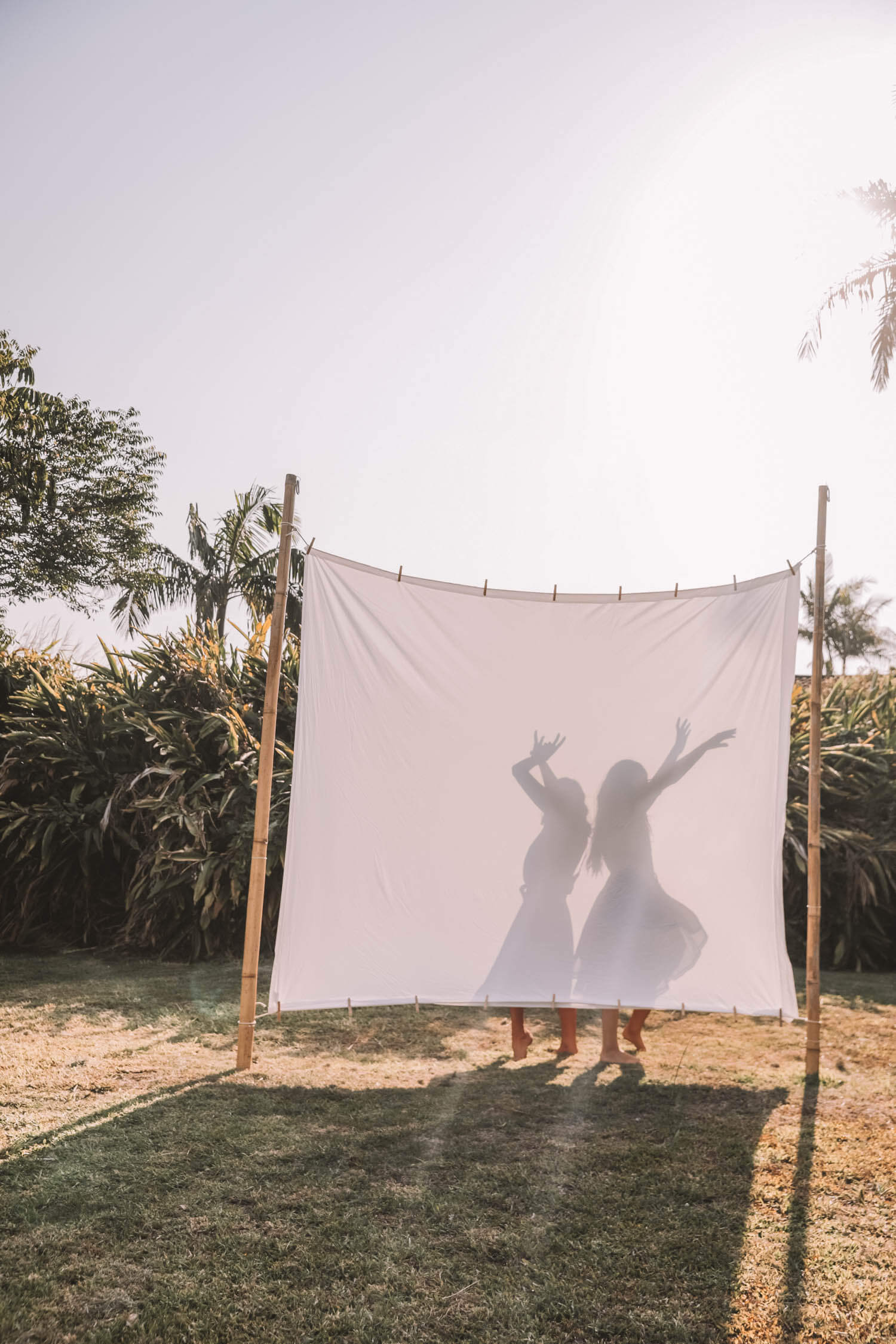 Backyard Movie Night Setup by Spell Designs - a how-to guide